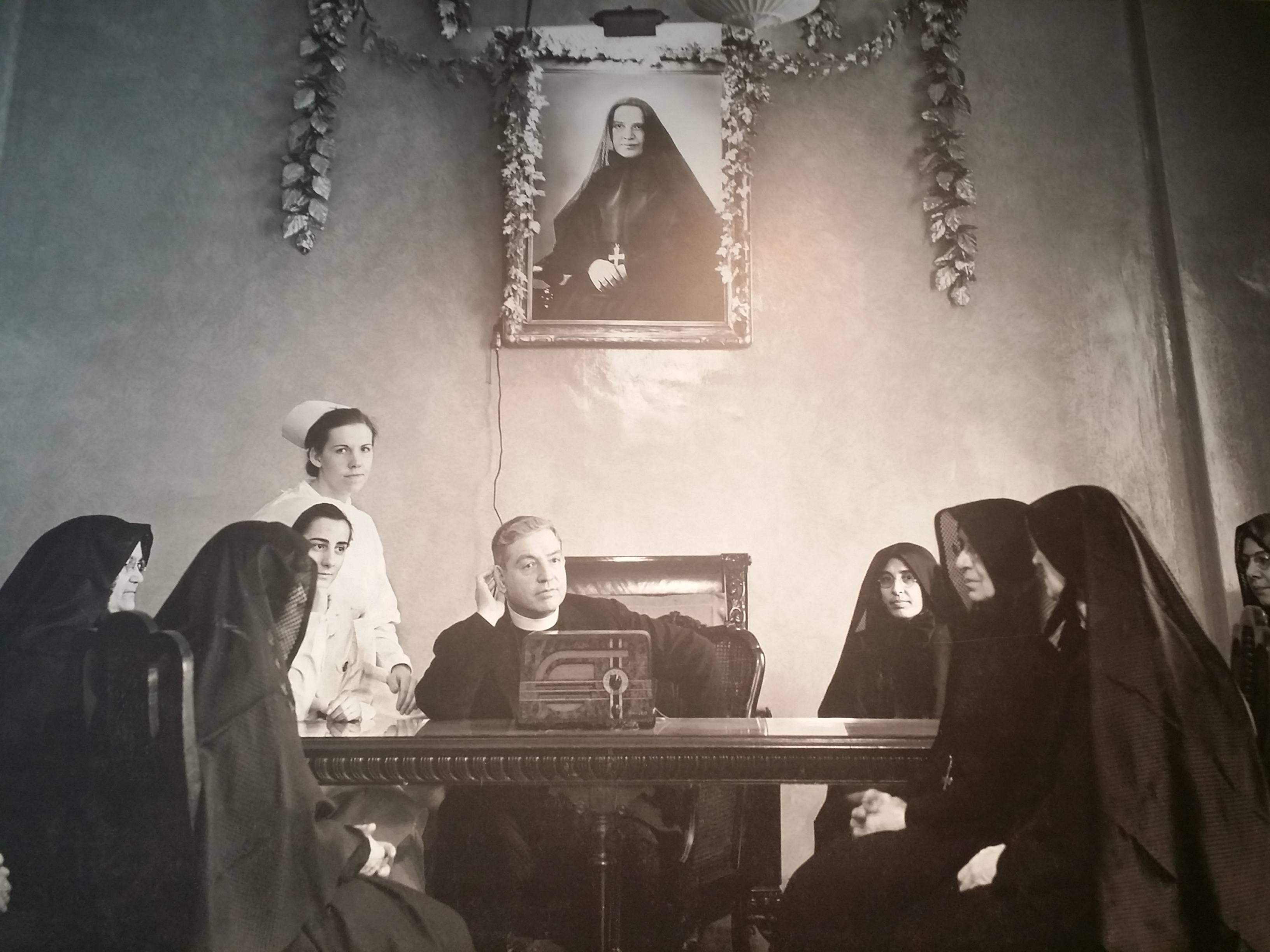 View Full Size Mother Cabrini and Cardinal Mundelein