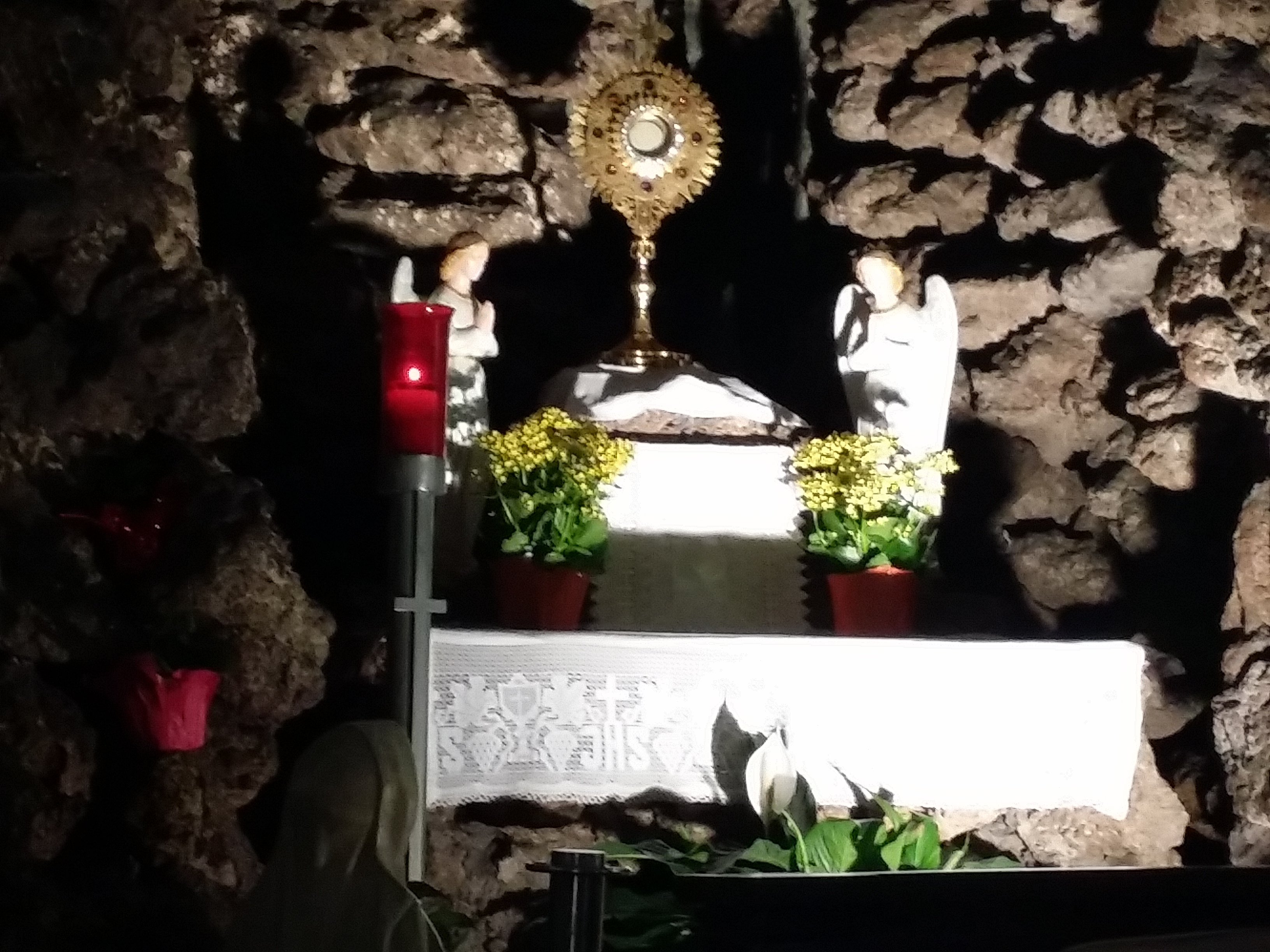 View Full Size Our Lady of Lourdes Grotto Monstrance